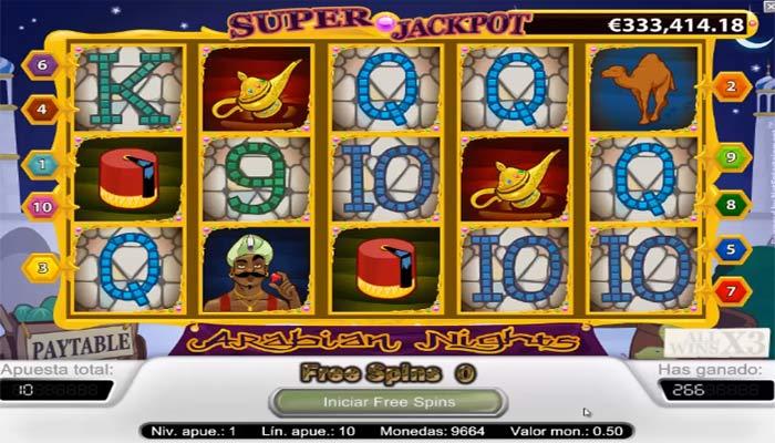Arabian Nights Spielautomat mit Jackpot