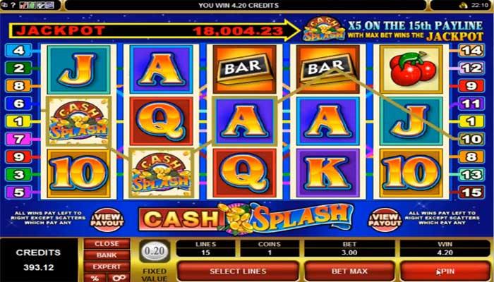 CashSplash Microgaming Spielautomat