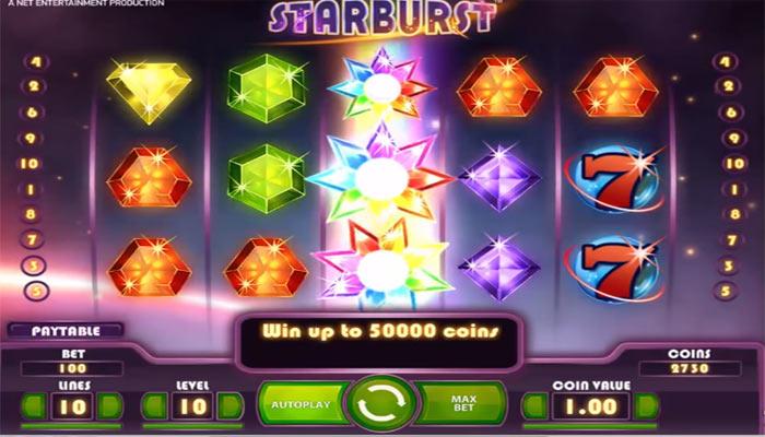 Starburst - Spielautomat mit Free Spins