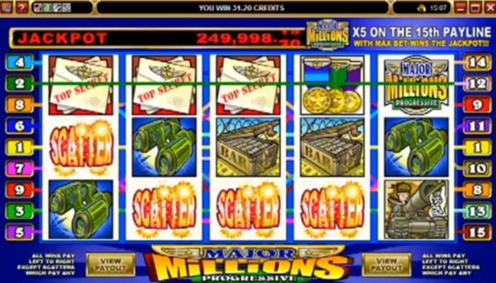 Major Millions Microgaming Spielautomat