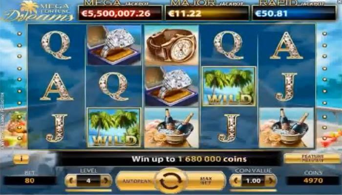Mega Fortune Dreams Spielautomat mit Jackpot